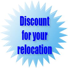 Discount for your relocation